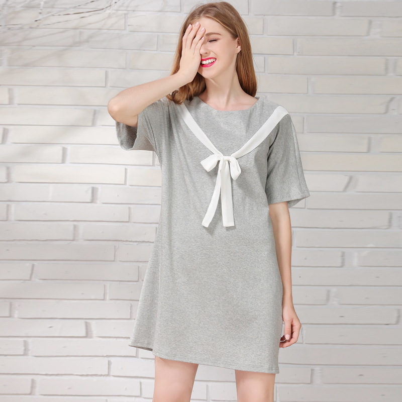 5103cbd8dfb91 Amadrenino Fashion Postpartum Mother Bow Clothes Women Maternity Nursing  Dresses Main Cotton Pregnant Women Breastfeeding Dress-in Dresses from  Mother ...