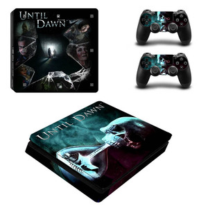 Image 3 - Black Batman Skin Sticker Cover Protector Vinyl Sticker For PS4 Slim Console Kinect and 2 Controller Skin
