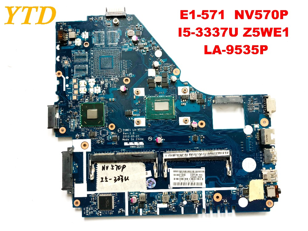 Original for font b ACER b font E1 570 NV570P laptop motherboard E1 571 NV570P I5