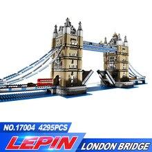 2017 Nouveau Lepin 17004 4295 Pcs Créateur D'experts London Tower Bridge Modèle Blocs de Construction BricksToys Cadeau Compatible 10214