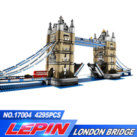 2017 Nueva Lepin 17004 4295 Unids Creador de Expertos London Tower Bridge Modelo Building Blocks Regalo BricksToys Compatible 10214