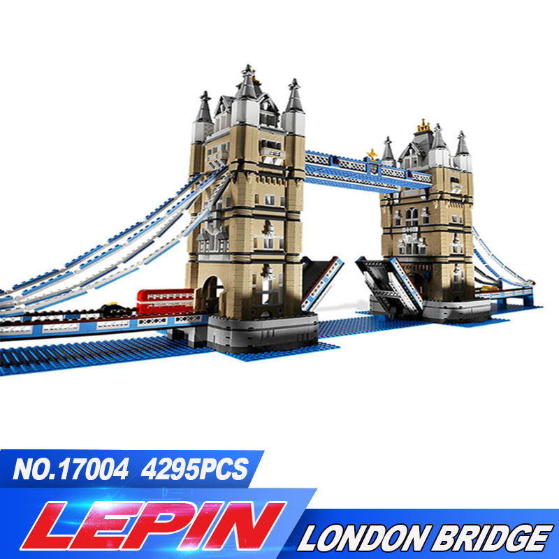 DHL Lepin 17004 4295Pcs Creator Expert London Tower Bridge Model Building Blocks Bricks toys for childre Gift Compatible 10214 все цены
