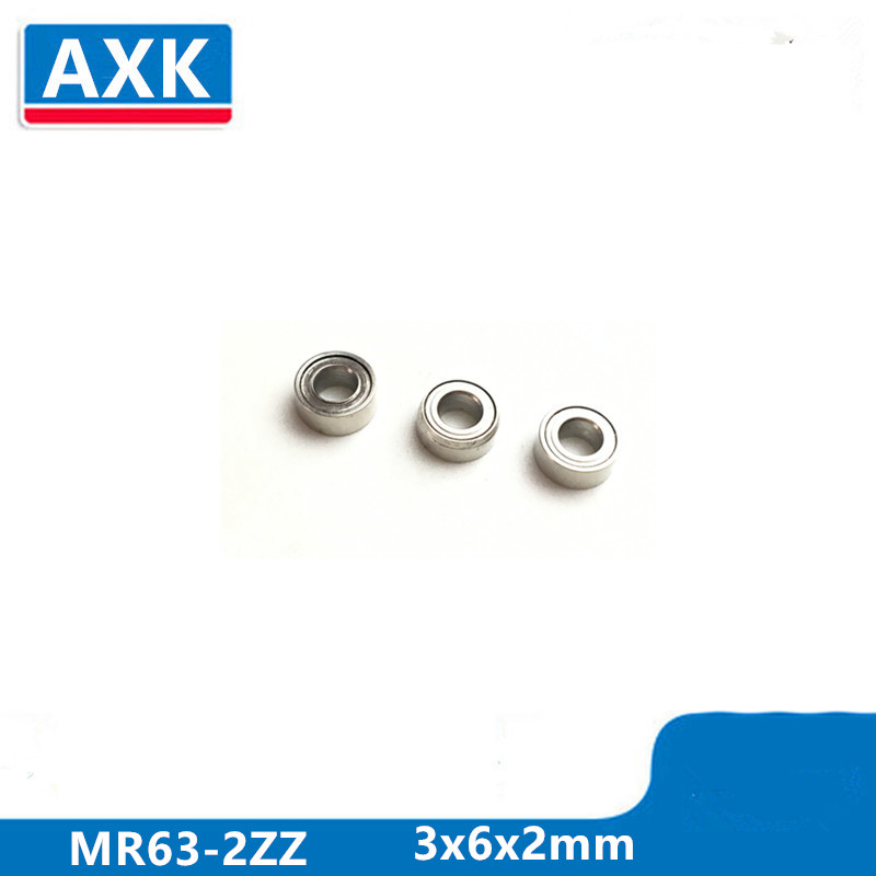 Axk 10pcs Mr63zz-2 3x6x2 Mm Deep Groove Ball Bearing Miniature Bearing High Qualit Mr63z
