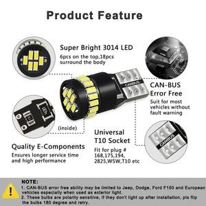 Image 3 - OXILAM 10Pcs T10 LED Canbus W5W LED Bulb Auto Lamp 3014 24SMD Car Interior Light 194 168 Lights Bulb White Red Yellow No Error