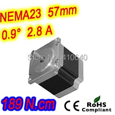 цена на 6 pieces per lot high torque step motor 23HM30-2804S L 76 mm Nema 23 with 0.9 deg 2.8 A 189 N.cm and bipolar 4 lead wires