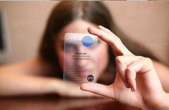 Carte Transparente Effacer Matt De Visite Cartes Pleine Couleur Impression