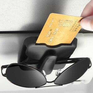1x Car Organizer Card Holder Sun Visor Clip Sunglasses Holder For Toyota Corolla RAV4 Camry Prado Hilux Prius Land Cruiser(China)