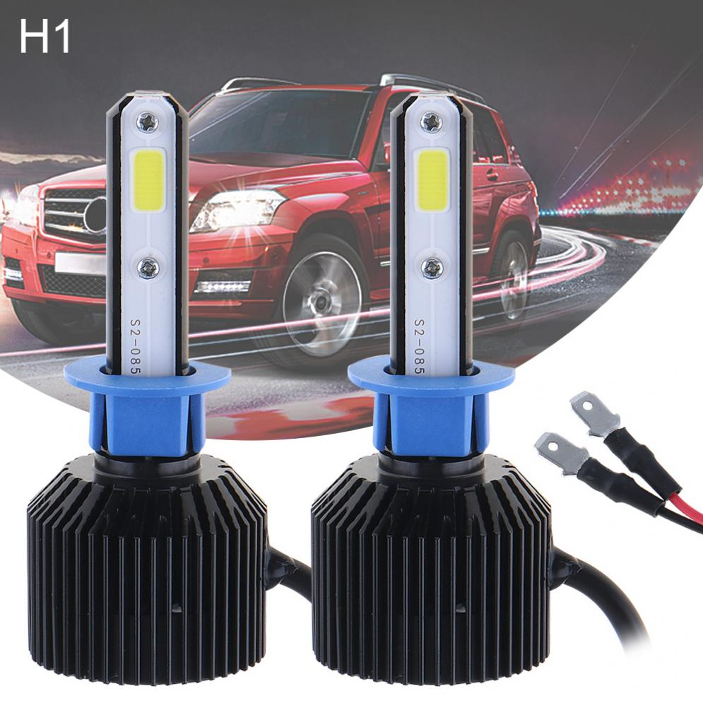 72W H1 8000LM 6000K White Car Light All-In-One LED Headlight Kit High/Low Beam Bulbs Automotive LED Headlamps for Cars
