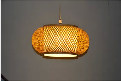 ФОТО Chinese classic bamboo hand-woven circle pendant lights Retro chinese-style rural hang lamp for stairs&corridor&porch NLZYF001