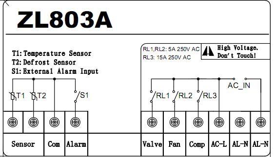 ZL 803A, 220VAC, wasser temperatur control, 30A ausgang, kalten ...