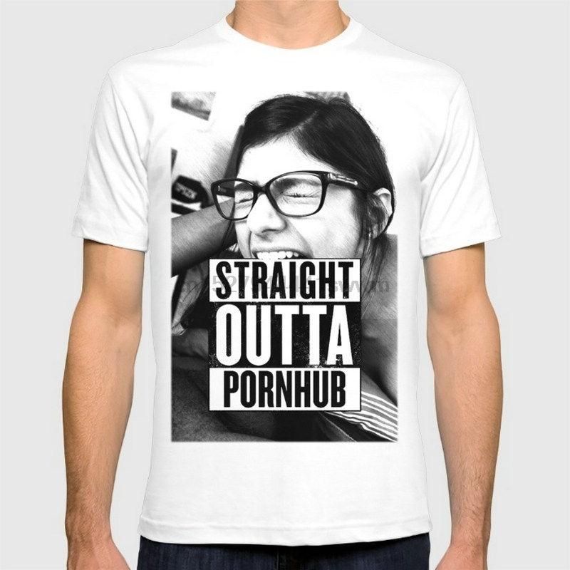 Mia Khalifa Straight Outta New Fashion Men T-shirts Cotton T Shirts Man Cloth Pride Of The Creature T-Shirts