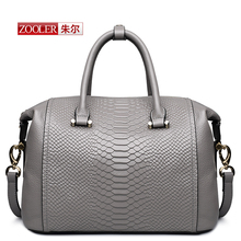 Women Pillow Handbag 2016 New Leather  shoulder Bags Large Capacity Crocodile Pattern Ladies Tote Bag Bolsos Mujer#T-6162