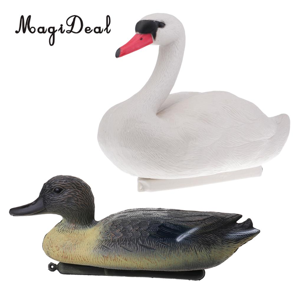 2pcs Duck Drake Decoy Goose Swan Hunting Bait Ornaments Garden Decor Scarecrow