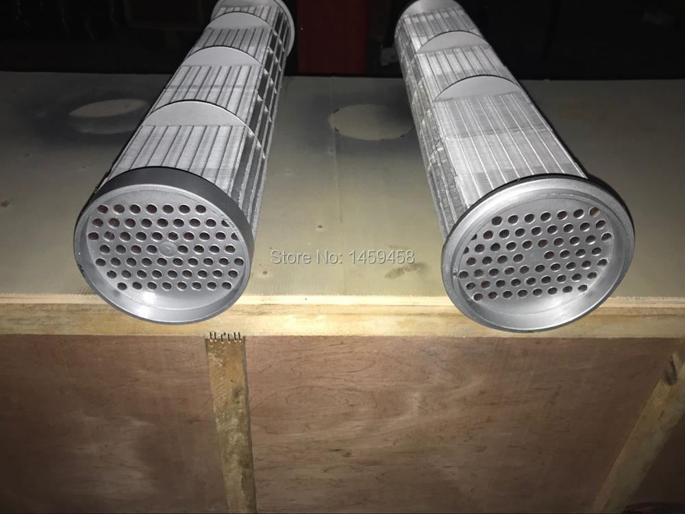 GA132W water cooled screw air compressor tube and shell oil cooler core 1614866208(1614 8662 08)
