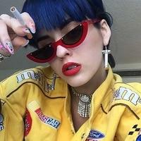 Cool Trendy Half Frame Rimless Cat Eye Sunglasses Women 2017 Fashion Clear Brand Designer Sun Glasses