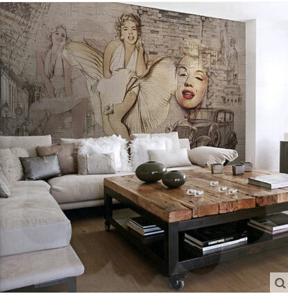 Paper Decorations Picture More Detailed About. Online Marilyn Monroe The Living  Room Sofa Corner Combined Villa European Aliexpress Mobile Part 72