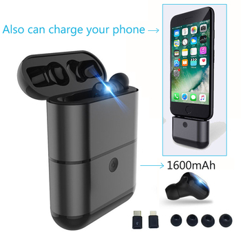 TWS Mini invisible Wireless Earphone IPX5 Waterproof Bluetooth Earphones Wireless Earbuds Headset Bluetooth With charging box