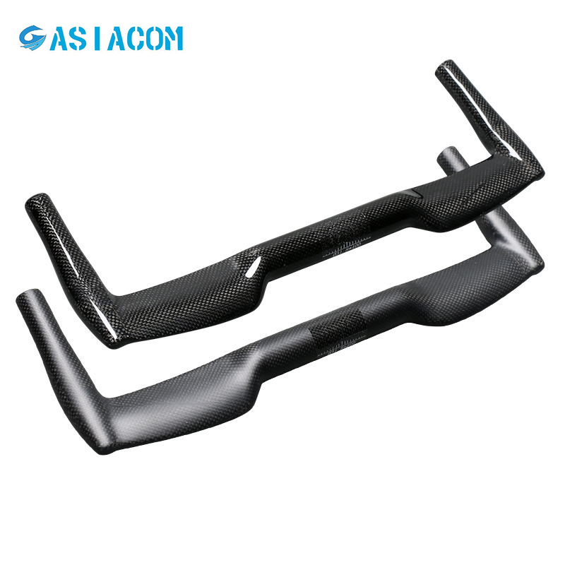 NO LOGO Full Carbon Bicycle Rest Handlebar Road Bike TT Handlebar Small wheel folding bicycle 25