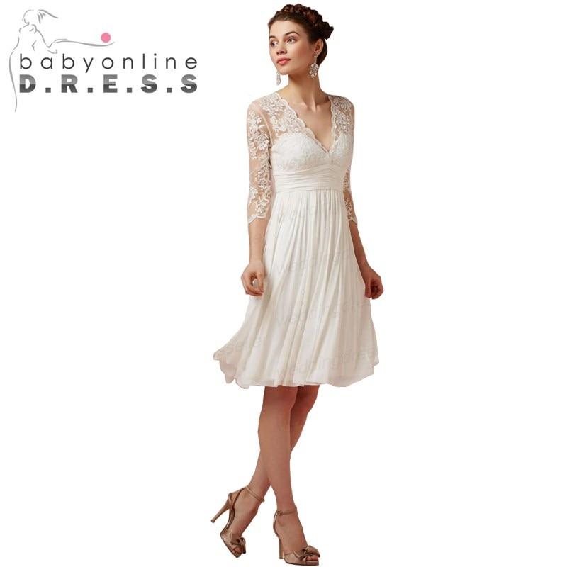 Short White Wedding Dresses Under 100