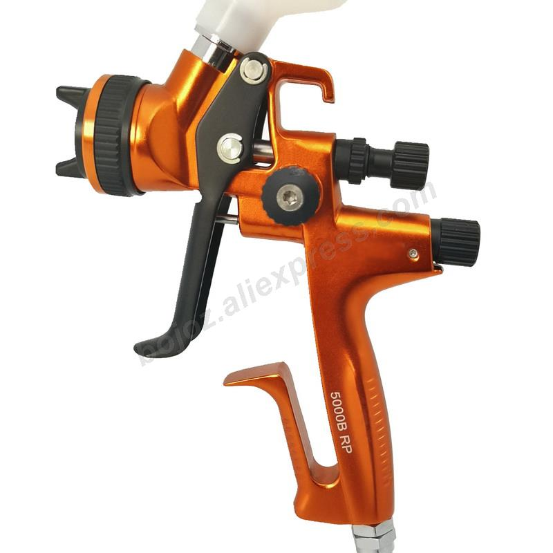 Image 2 - Golden environmental Limited Edition Porsche Design RP Spray Gun 1.3 Nozzle w/t cup for Car Paint Sprayer pistol.-in Spray Guns from Tools on