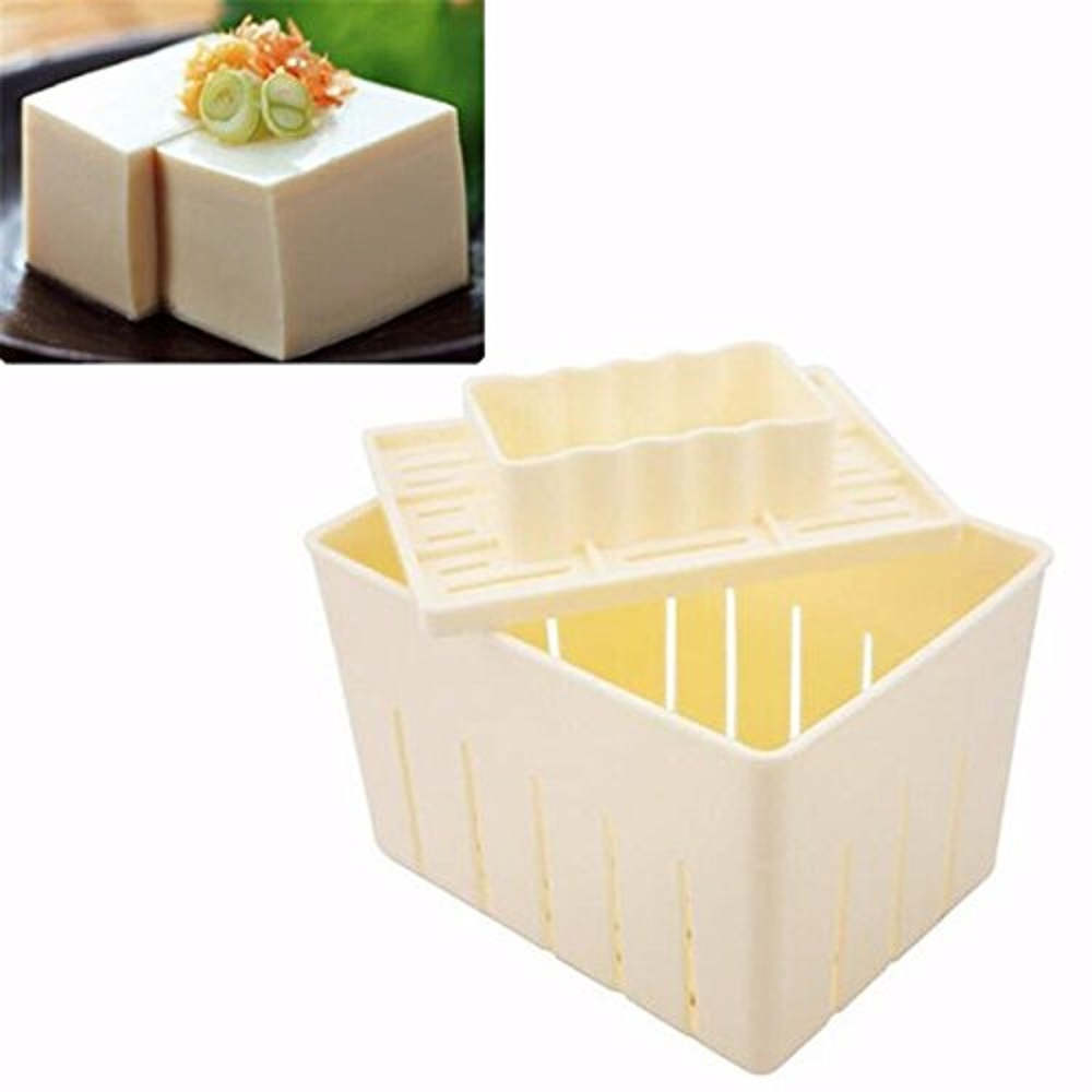DIY Tofu Mold <font><b>Plastic</b></font> Tofu Press <font><b>Mould</b></font> Homemade Soybean Curd Tofu Making Mold With <font><b>Cheese</b></font> Cloth Kitchen Cooking Tool Set image