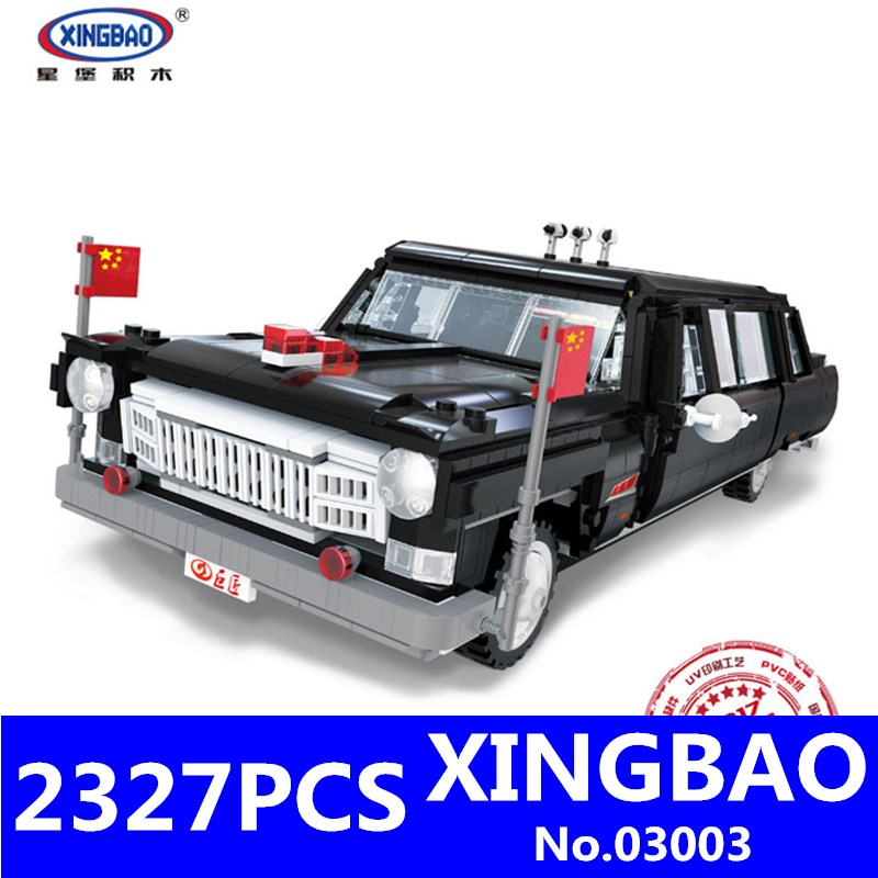 HongQi Master Car Set Building Blocks Bricks XingBao 03003 2327Pcs Genuine Creative MOC Technic Series DIY Children Toys ModelHongQi Master Car Set Building Blocks Bricks XingBao 03003 2327Pcs Genuine Creative MOC Technic Series DIY Children Toys Model