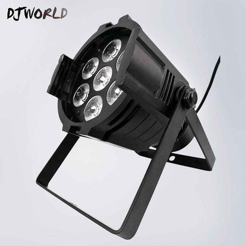 Mini Aluminum alloy LED Stage Lighting 7x18W RGBWA+UV 6in1 DMX512 Professional For Disco DJ Birthday Party KTV Nightclub Lights