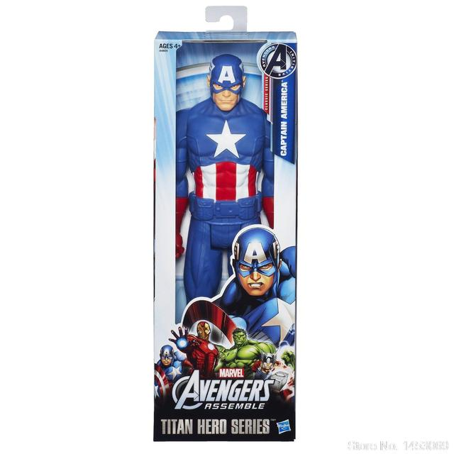 "Marvel Super hero Captain America The First Avenger Super hero Toy Figura de Ação PVC 12 ""30 cm KT1610"