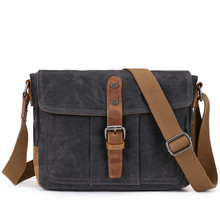 New casual retro cross-body bag is waterproof and wear-resistant urban walking shoulder for men's outdoor canvas