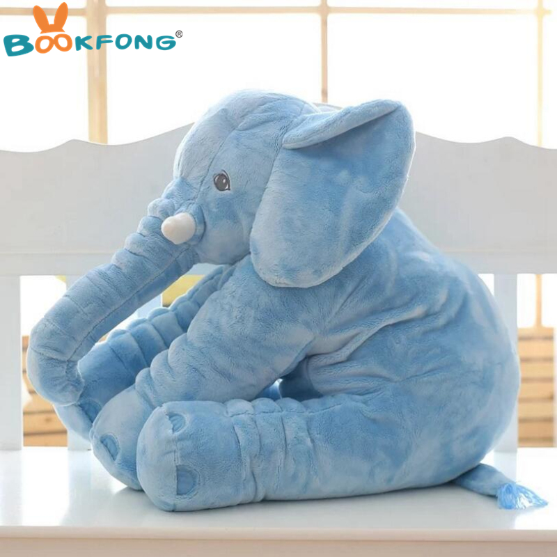 40cm/60cm Large Plush Elephant Doll Kids Sleeping Soft Back Cushion Cute Stuffed Elephant Baby Accompany Doll Xmas Gift #4