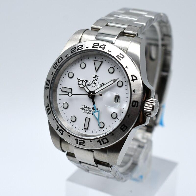 PETER LEE de alta calidad completa de acero mecánico automático reloj de  los hombres de la marca de lujo de Reloj clásico de los hombres de negocios  de moda ... c424b31df926