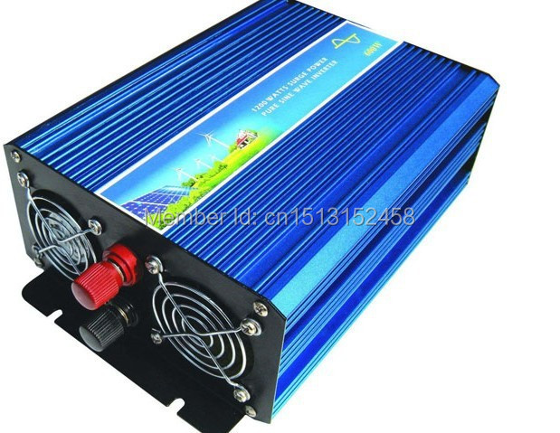 Free Shipping, Off Grid Tie Inverter 1000W DC12V/24V/48VDC to 110V/220VAC Pure Sine Wave Inverter for Wind Solar System