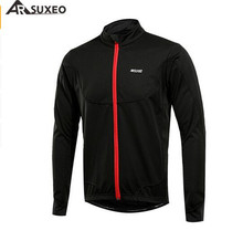 ARSUXEO Cycling Jacket Men Thermal MTB Bike Bicycle Light Weight Windproof Waterproof Jackets Jersey Clothes Coat