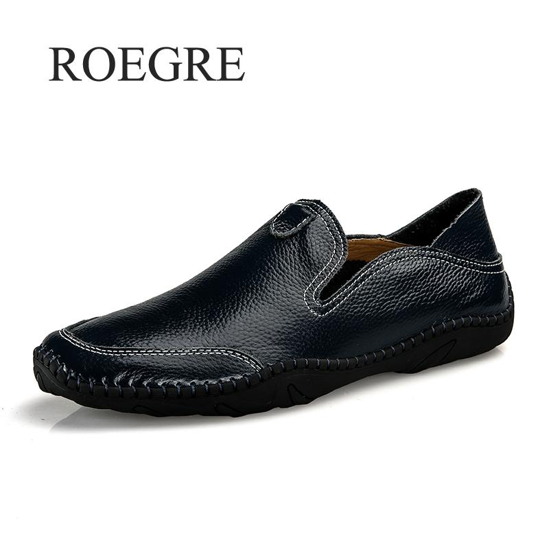 2019 New Men Shoes Genuine Leather Comfortable Men Casual Shoes Footwear Chaussures Flats Men Slip On Lazy Shoes Zapatos Hombre 2