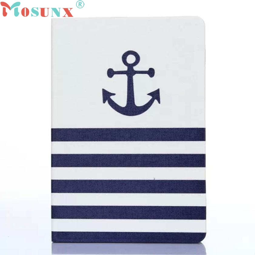 Striped Anchor Flip Stand Leather Case Cover For iPad Mini 1 2 3 Retina APR 29 top quality hot selling fashion design anchors pattern flip stand leather case cover for ipad mini 2 retina jul 12