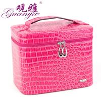 Professional makeup artist or fashion women proprietary makeup box/and big space inside with a mirror/24*16*20cm