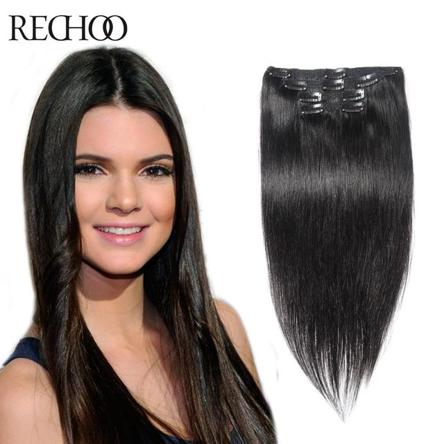 Aliexpress Buy Clip In Hair Extensions 70g To 220g Human Hair