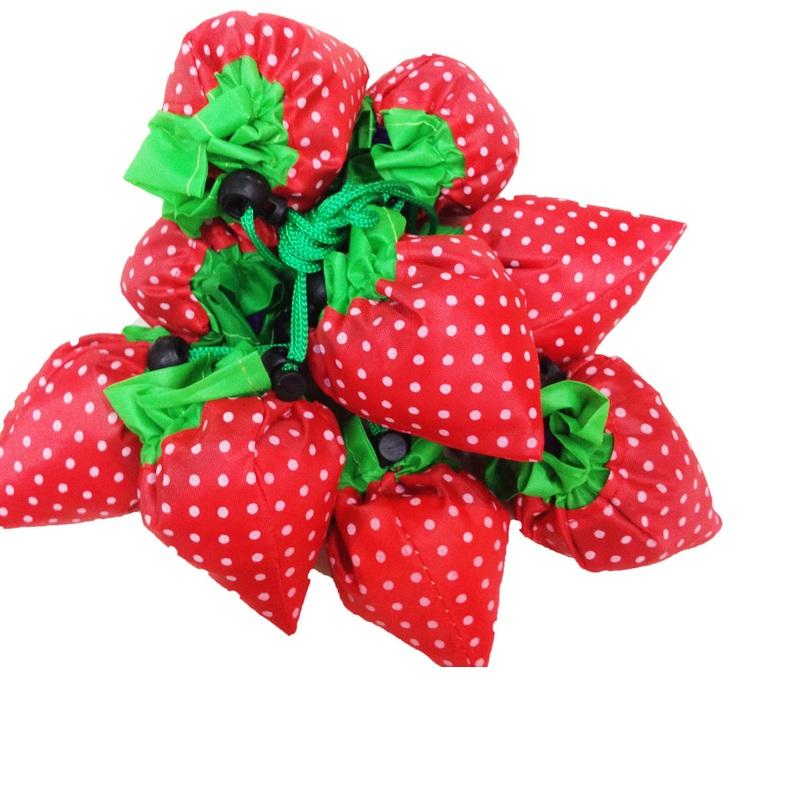 ee09a43abb7 shopping bag strawberry folding shopping bag eco friendly bag ...