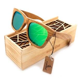 Image 3 - BOBO BIRDแว่นตากันแดดผู้หญิงผู้ชาย2020ทำด้วยมือแว่นตาไม้กรอบแว่นตาไม้สร้างสรรค์ของขวัญกล่องOculos De Sol
