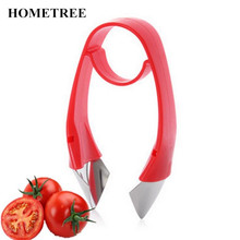 HOMETREE Red 1 pcs Tomato Strawberry Top Hullers Metal +Plastic Fruit Remove Stalks Device Tomato Stalks Knife Kitchen Tool H232 aphids and tomato fruit borer