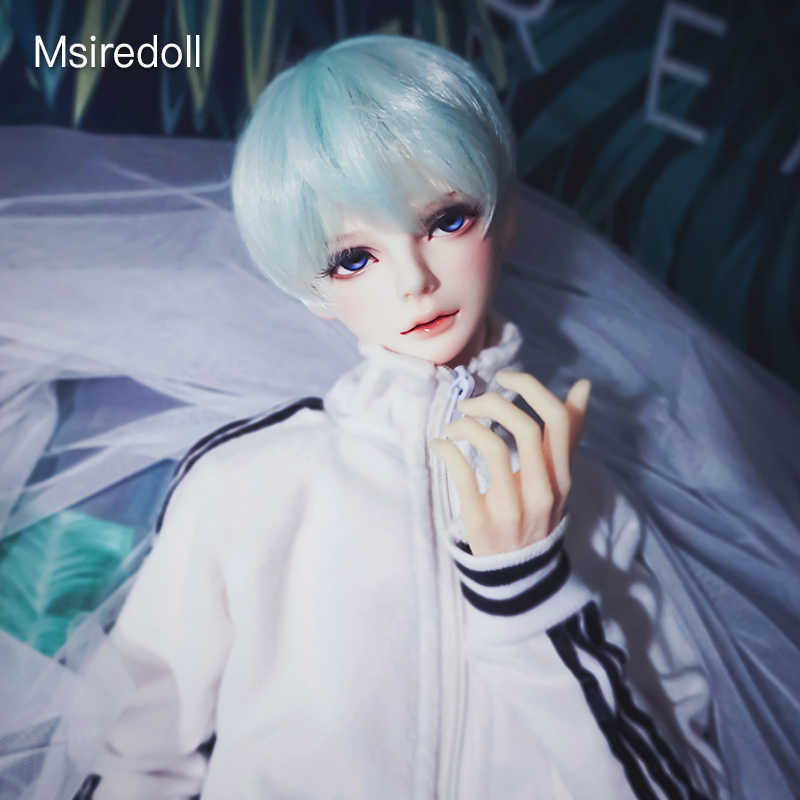 Msiredoll accesorios para muñecas articuladas con bolas peluca bjd 1/3 1/4 1/6 Peluca de fibra resistente a altas temperaturas hecha en China