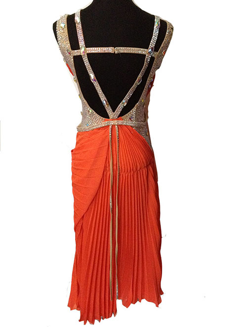 custom customize color Ballroom Salsa Samba Rumba Tango Swing Cha Cha  Rhythm Latin Gown rhinestone dance competition dress-in Latin from Novelty    Special ... 68a722675dbc