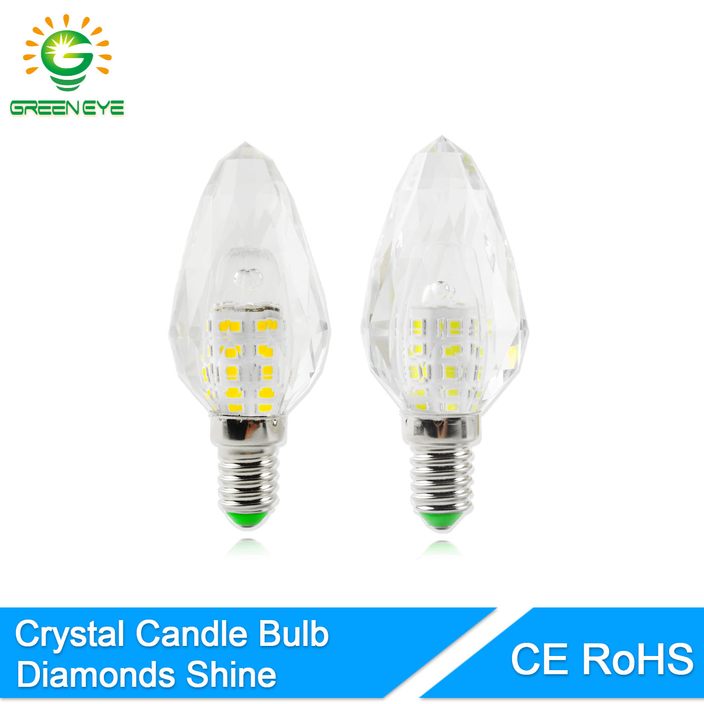 greeneye korea crystal led e14 candle bulb 9w led light 220v led lamp lampada bombillas ampoule. Black Bedroom Furniture Sets. Home Design Ideas