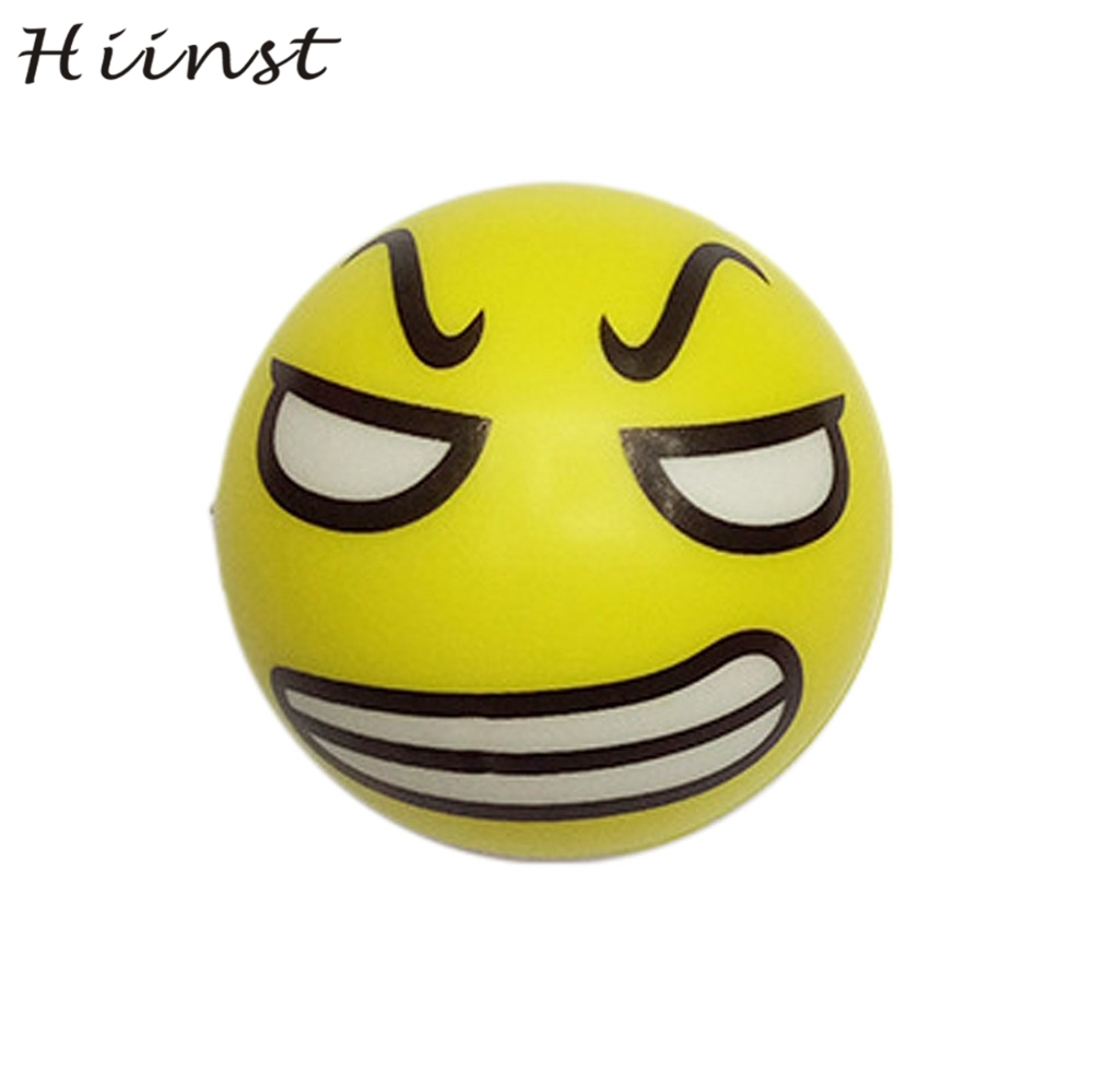 HIINST Foam Ball Squeeze Exercise Anti Stress 2pcs Happy Smile Face Relief Sponge Hand W ...