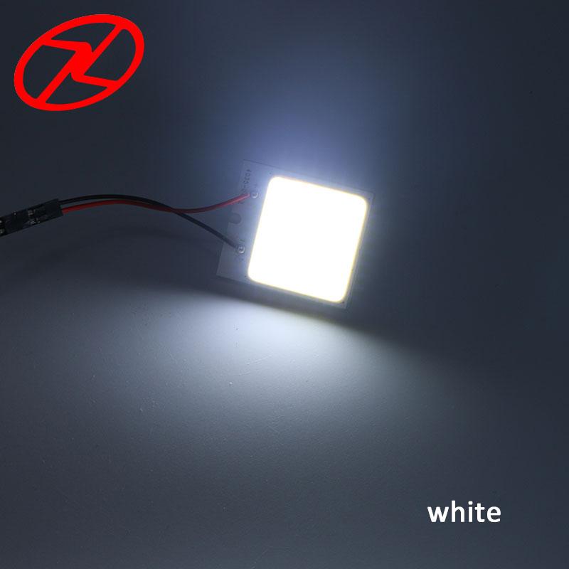 2бр Бял COB чип 48 smd LED интериор на - Автомобилни светлини - Снимка 6