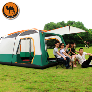 Image 4 - Samcamel 8 12 Person One Hall Two Bedroom Double Layer Waterproof Camping Tent Large Gazebo Carpas De Camping