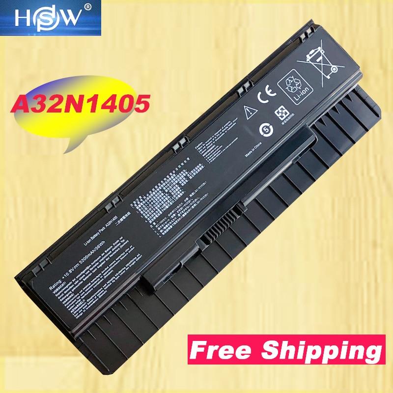 HSW HSW Laptop Battery A32N1405 A32NI405 For ASUS G551 G551J G551JK G551JM G551JW N551JW4720 N751 N751JK For ROG G58 G58J 6CELLS