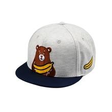 2018 Unisex Top Quality Bear Embroidery Baseball Cap Snapback Hip Hop UKUMA Caps Gay Bear Short Brim Hat Circumference: 54-63 cm