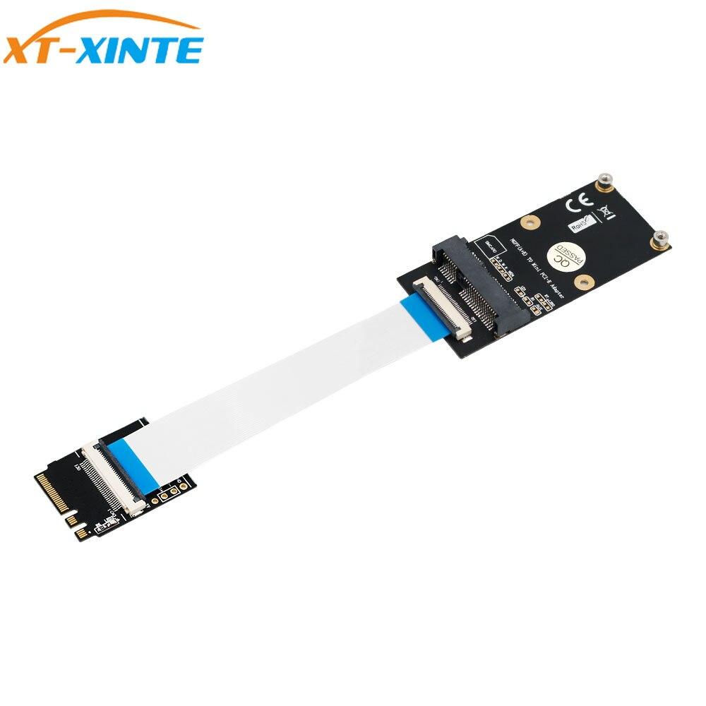 Ngff a + e para mini adaptador pci-e ngff chave A-E para mini pci express wifi m.2 adaptador wi-fi para a metade do tamanho e tamanho completo placa de rede