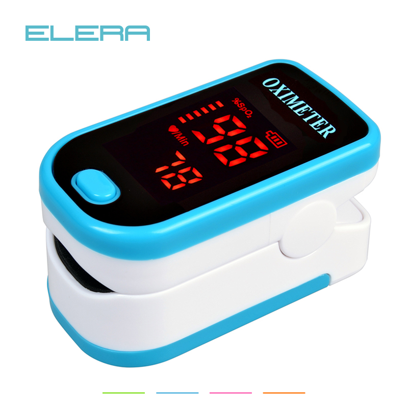 ELERA LED Fingertip Pulse Oximeter Blood Oxygen SPO2 PR Saturation Portable Oximetro Monitor oximetro de dedo Health Care